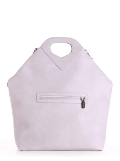 Летняя сумка, модель 190035 светло-серый. Фото товара, вид сзади.
