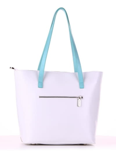 Летняя сумка, модель 190103 белый. Фото товара, вид сзади.