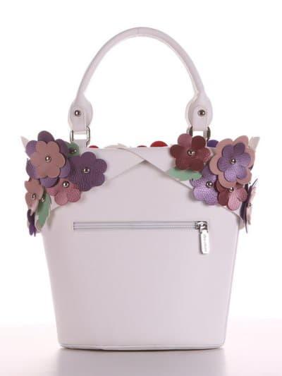 Брендовая сумка, модель 190251 белый. Фото товара, вид сзади.