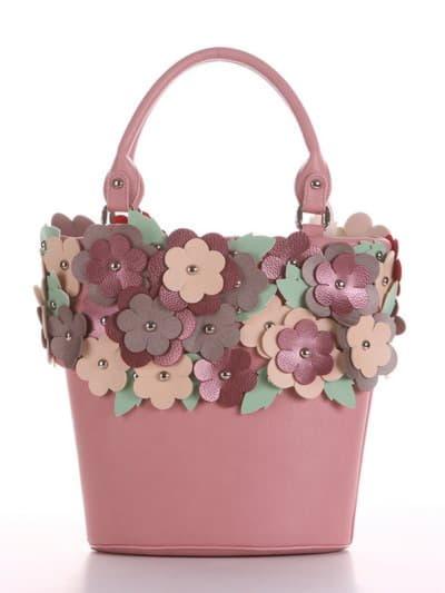 Летняя сумка, модель 190253 пудрово-розовый. Фото товара, вид спереди.