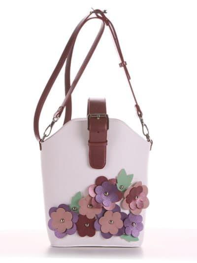 Летняя сумка, модель 190261 белый. Фото товара, вид спереди.