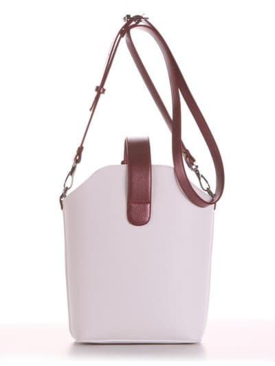 Летняя сумка, модель 190261 белый. Фото товара, вид сзади.