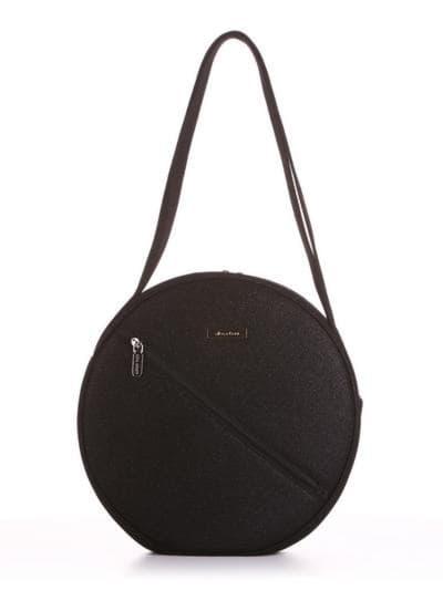Стильная сумка, модель 190301 черный. Фото товара, вид спереди.