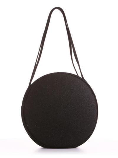 Стильная сумка, модель 190301 черный. Фото товара, вид сзади.