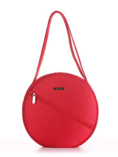Модна сумка, модель 190303 червоний. Фото товару, вид спереду.