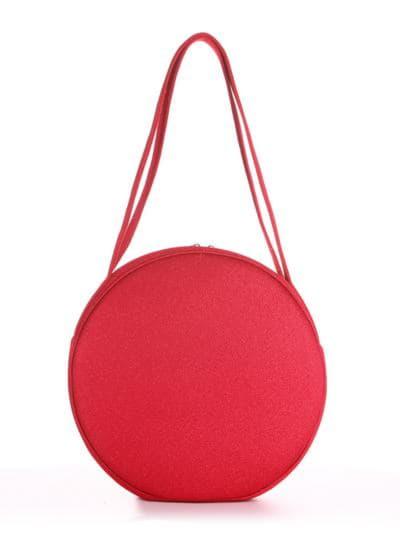 Модна сумка, модель 190303 червоний. Фото товару, вид ззаду.