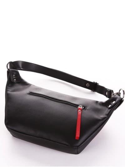 Літня сумка через плече, модель 190081 чорний. Фото товару, вид ззаду.