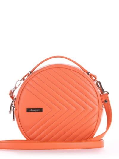 Летняя сумка через плечо, модель 190161 оранжевый. Фото товара, вид спереди.