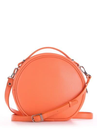 Летняя сумка через плечо, модель 190161 оранжевый. Фото товара, вид сзади.
