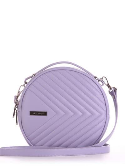 Летняя сумка через плечо, модель 190162 светло-сиреневый. Фото товара, вид спереди.