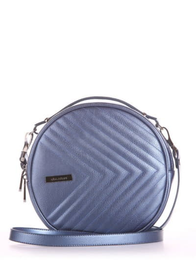 Модная сумка через плечо, модель 190169 стальной синий. Фото товара, вид спереди.
