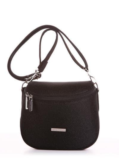 Летняя сумка через плечо, модель 190321 черный. Фото товара, вид спереди.