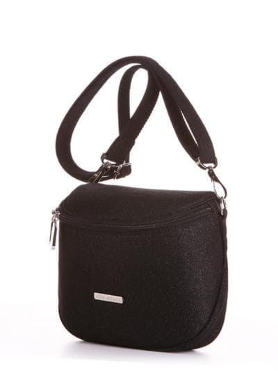 Летняя сумка через плечо, модель 190321 черный. Фото товара, вид сбоку.