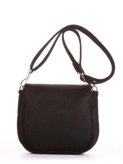 Летняя сумка через плечо, модель 190321 черный. Фото товара, вид сзади.