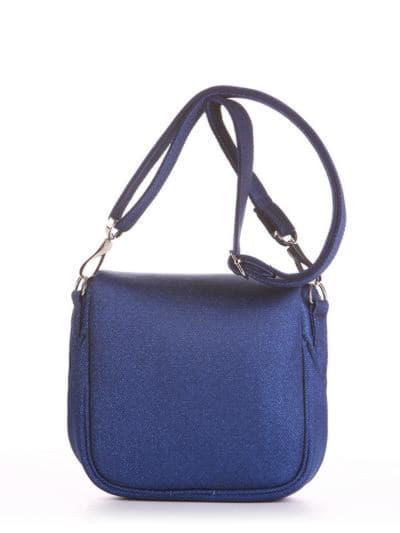 Брендовая сумка через плечо, модель 190322 синий. Фото товара, вид сзади.