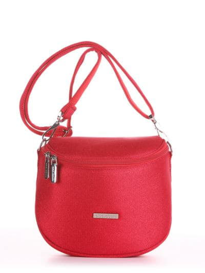 Летняя сумка через плечо, модель 190323 красный. Фото товара, вид спереди.