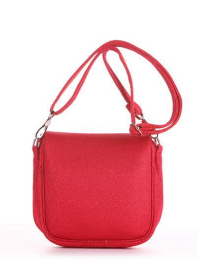 Летняя сумка через плечо, модель 190323 красный. Фото товара, вид сзади.