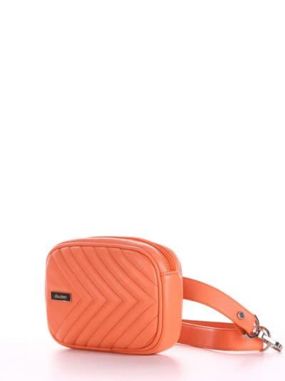 Модная сумка на пояс, модель 190171 оранжевый. Фото товара, вид сбоку.