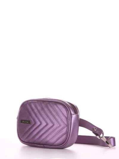 Брендовая сумка на пояс, модель 190178 аметист. Фото товара, вид сбоку.