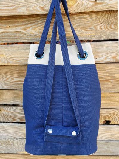 alba soboni. Сумка-рюкзак 200254 синий. Вид 3.