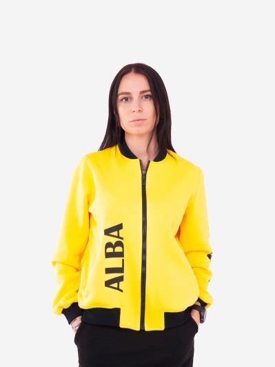 alba soboni. Жіночий бомбер 201-001-00 жовтий. Вид 1.