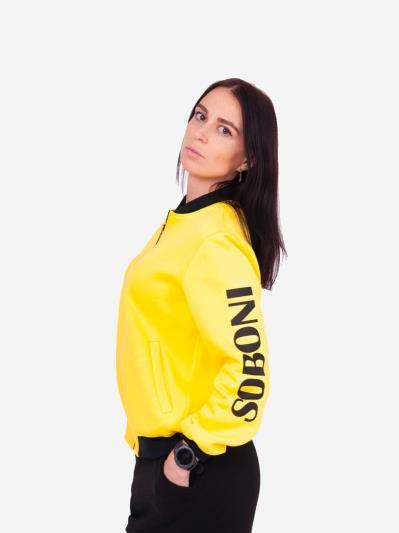 alba soboni. Жіночий бомбер 201-001-00 жовтий. Вид 2.