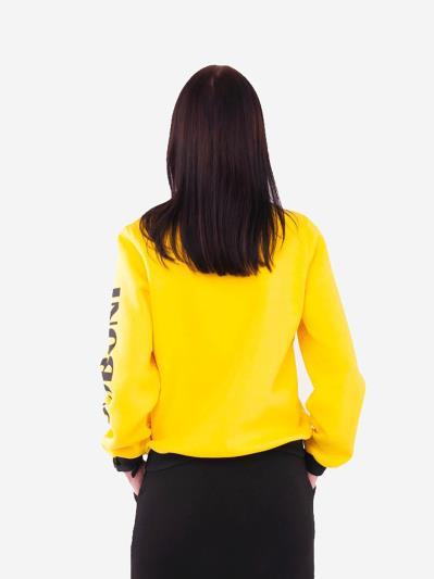 alba soboni. Жіночий бомбер 201-001-00 жовтий. Вид 3.