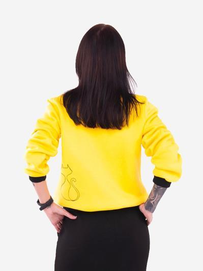 alba soboni. Жіночий бомбер 201-002-00 жовтий. Вид 3.