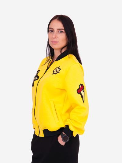 alba soboni. Жіночий бомбер 201-003-00 жовтий. Вид 3.
