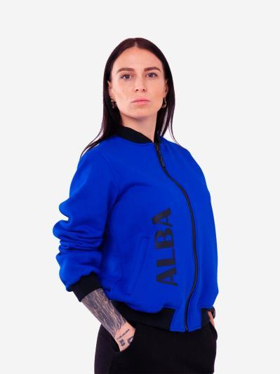 alba soboni. Жіночий бомбер 201-004-00 синій. Вид 1.