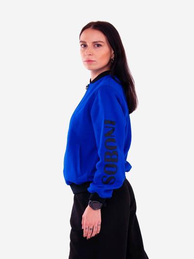 alba soboni. Жіночий бомбер 201-004-00 синій. Вид 2.