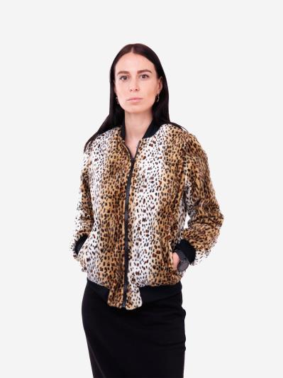 alba soboni. Жіночий бомбер 201-010-00 леопардовий. Вид 1.