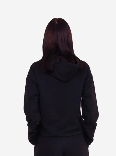 alba soboni. Жіноче худі 201-012-00 чорний. Вид 4.