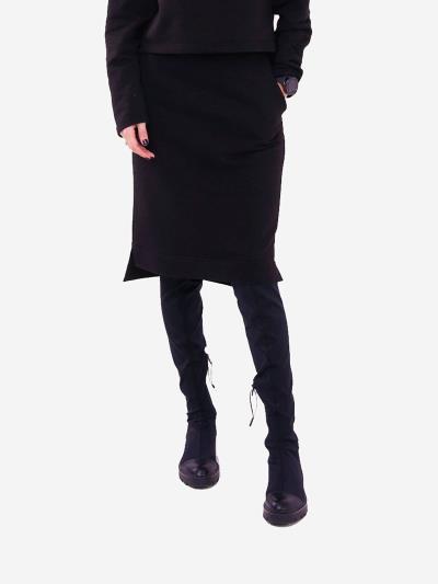 alba soboni. Жіноча спідниця 201-000-03 чорний. Вид 1.
