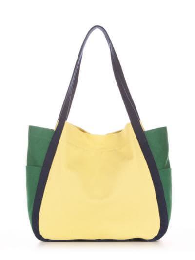 Летняя сумка, модель 190431 желтый-зеленый. Фото товара, вид дополнительный.