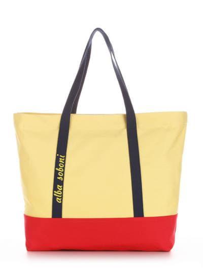 Летняя сумка, модель 190442 желтый-красный. Фото товара, вид спереди.