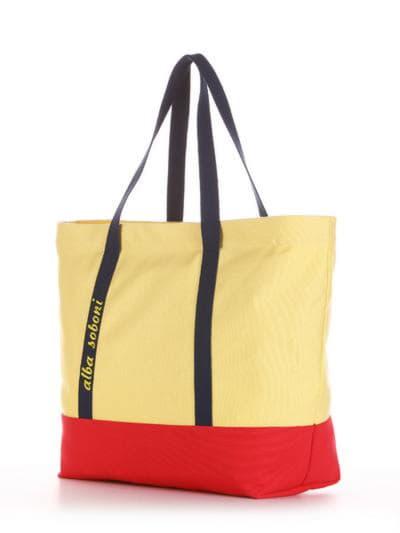 Летняя сумка, модель 190442 желтый-красный. Фото товара, вид сзади.