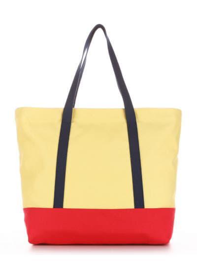 Летняя сумка, модель 190442 желтый-красный. Фото товара, вид дополнительный.