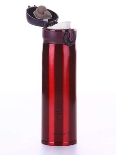 Стильный термос вакуумный 500 мл красный. Фото товара, вид 2
