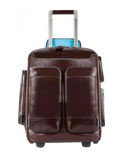 Молодежный чемодан-рюкзак piquadro bl square/cognac ca3797b2_mo. Фото товара, вид 1