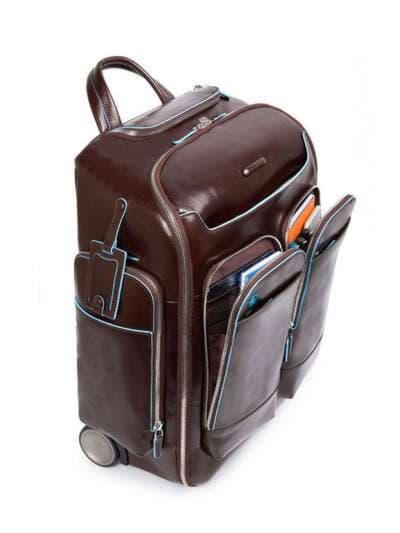 Молодежный чемодан-рюкзак piquadro bl square/cognac ca3797b2_mo. Фото товара, вид 2