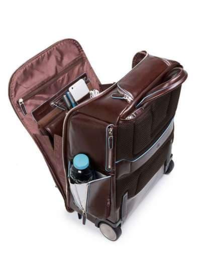 Молодежный чемодан-рюкзак piquadro bl square/cognac ca3797b2_mo. Фото товара, вид 3
