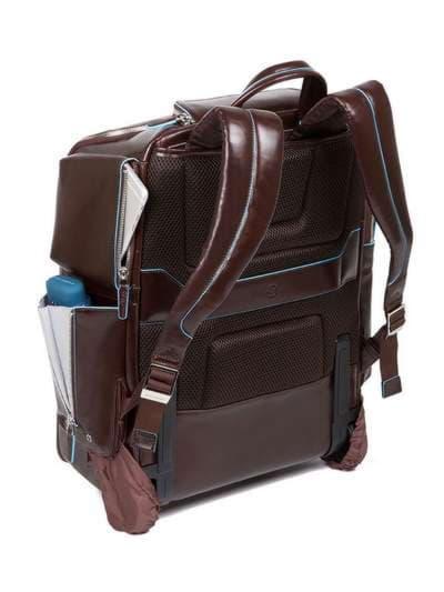 Молодежный чемодан-рюкзак piquadro bl square/cognac ca3797b2_mo. Фото товара, вид 4