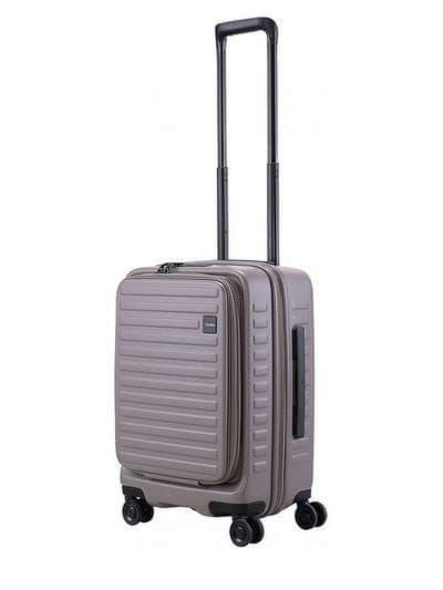Стильный чемодан на 4 колесах lojel cubo 18/warm grey маленький lj-cf1627-1s_gr. Фото товара, вид 1