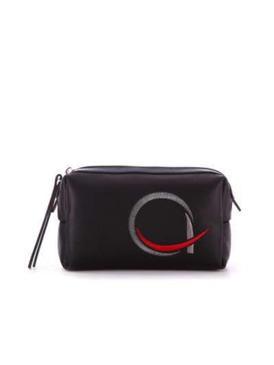Молодежная косметичка, модель 938 черный. Фото товара, вид спереди._product-ru
