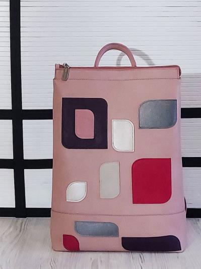alba soboni. Рюкзак 201306 рожевий. Вид 1.