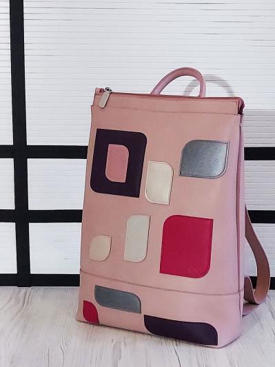 alba soboni. Рюкзак 201306 рожевий. Вид 2.