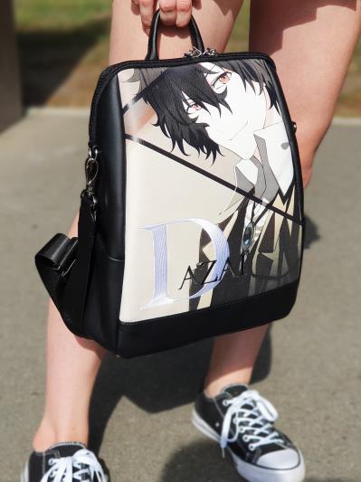 Підлітковий рюкзак аниме Дазай Осаму alba soboni 211520 колір чорний. Фото - 3