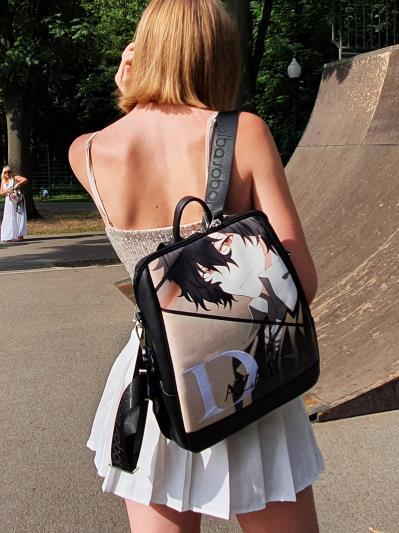 Підлітковий рюкзак аниме Дазай Осаму alba soboni 211520 колір чорний. Фото - 4