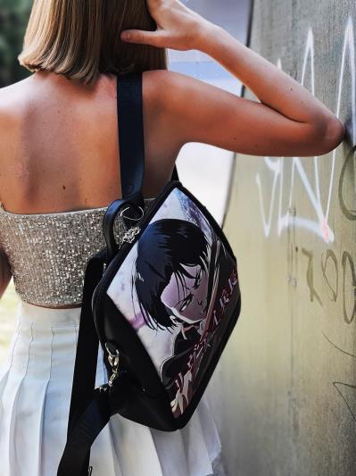 Молодіжний рюкзак Леві Аккерман alba soboni 211521 колір чорний. Фото - 2
